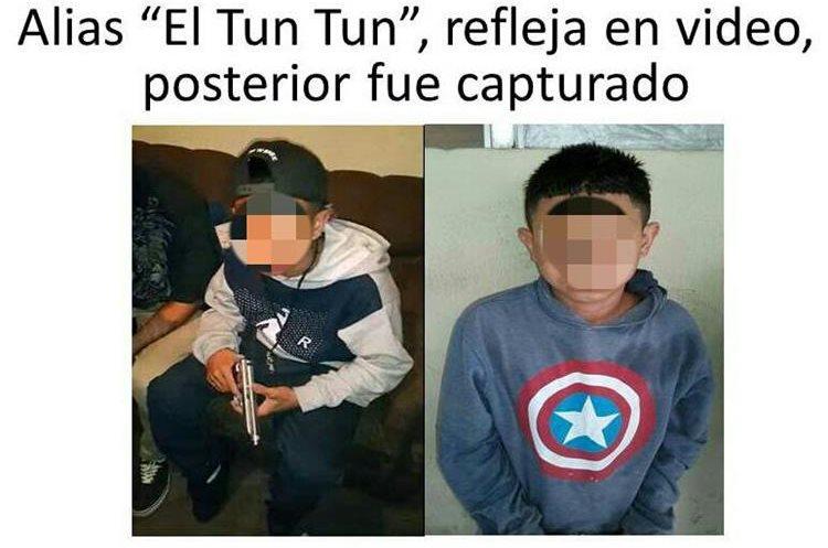 """Alias """"el Tun Tun"""" también aparece en el video que se hizo viral y fue detenido por los ataques contra la PNC. Foto Prensa Libre: PNC"""