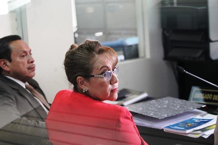 Blanca Stalling durante la audiencia de este martes en la Torre de Tribunales. (Foto Prensa Libre: Érick Ávila)