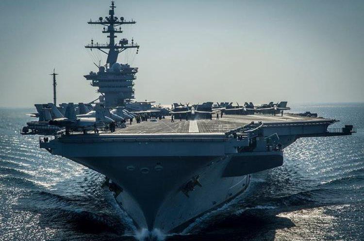 Portaviones estadounidense enviado a las costas japonesas. (AFP)