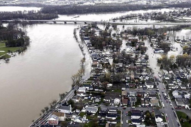 Quebec registra inundaciones históricas. (Foto Prensa Libre: EFE)
