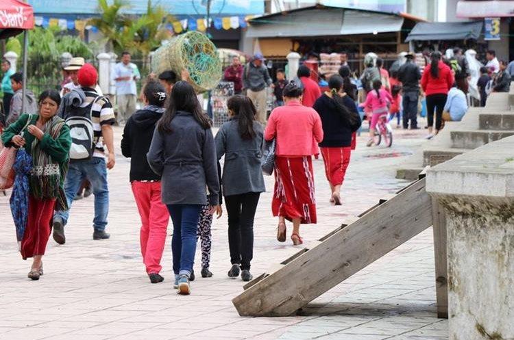 La joven fue secuestrada en una de las calles de Nebaj, Quiché. (Foto Prensa Libre: Héctor Cordero)