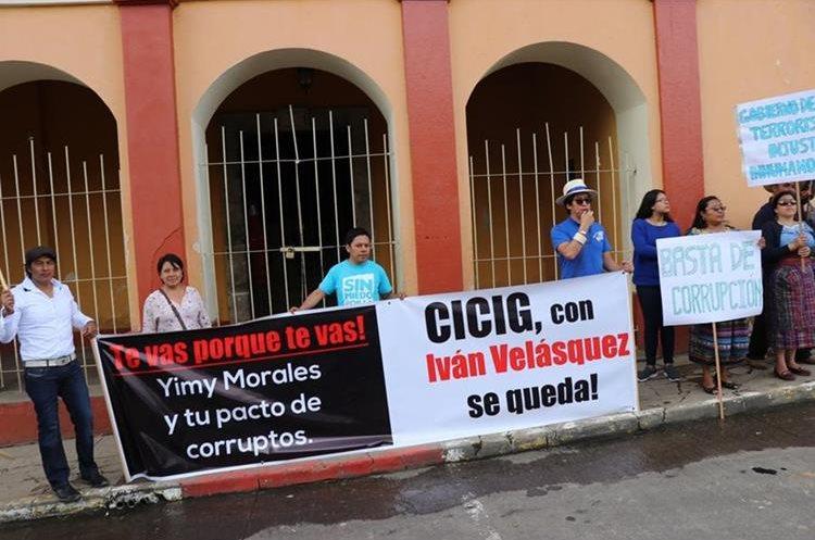 Protesta en Quiché.(Prensa Libre: Héctor Cordero)