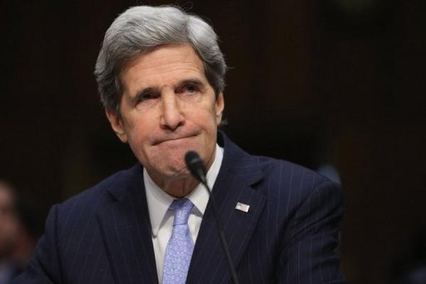 <p>El senador demócrata John Kerry, durante el comité del Senado. (AFP).<br></p>