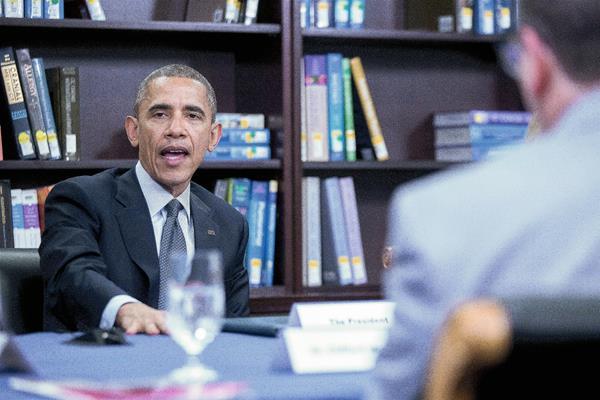 El presidente estadounidense, Barack Obama, habala sobre la postura hacia Cuba y Venezuela. (Foto Prensa Libre:EFE)