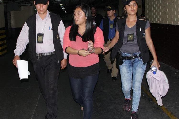 Maritza Suzana Tevalán Santizo fue llevada a Tribunales. Foto Prensa Libre: PNC