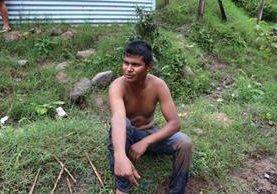 Samuel Vicente, de 24 años, fue declarado héroe jalapaneco. (Foto Prensa Libre: Hugo Oliva)