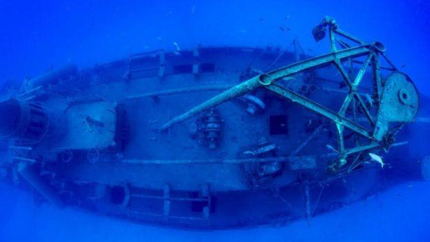 """""""Naufragios como el de la embarcación USS Kittiwake pueden requerir fotos panorámicas"""", según Jennifer Idol. Foto: Jennifer Idol"""