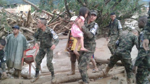 El gobierno colombiano declaró a la zona bajo estado de calamidad. EJÉRCITO DE COLOMBIA