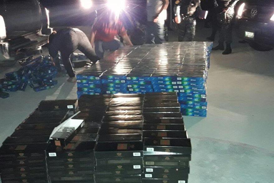 El producto está valorado en Q75 mil, según las autoridades. (Foto Prensa Libre: Rigoberto Escobar)