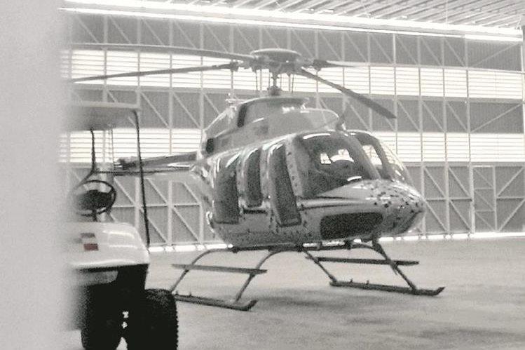 La aeronave habría sido pagada con contribución de funcionarios de gobierno.(Foto Prensa Libre: Estuardo Paredes)