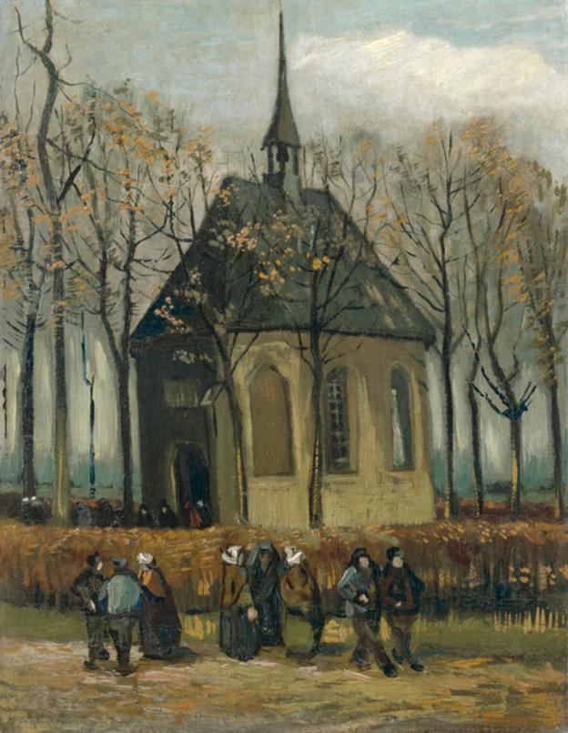 El padre de Van Gogh era un pastor de la iglesia de Neunen, el tema de esta pintura. VAN GOGH MUSEUM