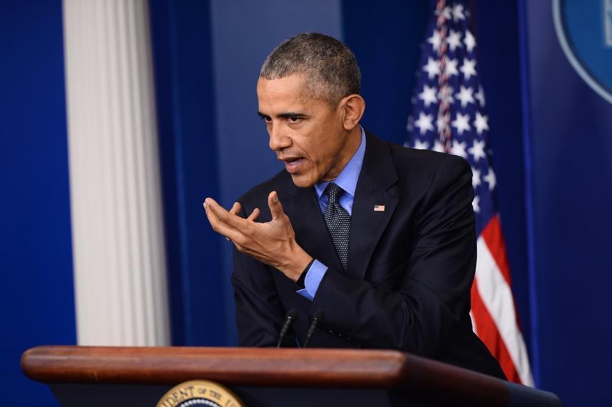 El presidente Barack Obama reiteró de que Bashar al Asad debe abadonar el poder en Siria, durante una conferencia de prensa en Washington. (Foto Prensa Libre: AFP).