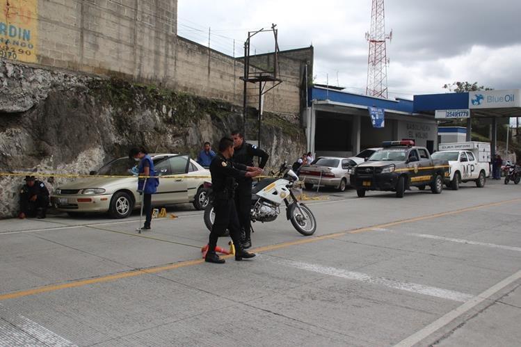 Lugar donde fue el ataque armado en contra del agente de la PNC, Marcotulio Hernández, en Huehuetenango. (Foto Prensa Libre: Mike Castillo)