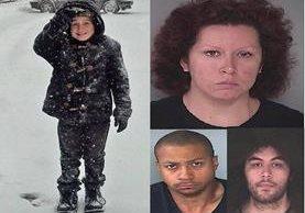 Combo de fotos de los implicados en la muerte del menor de 9 años (izquierda).(AP)