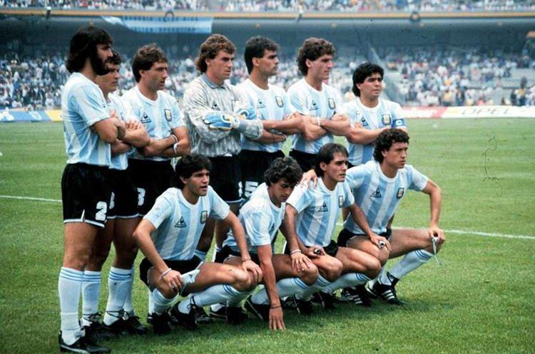 Esta es la selección campeona del mundo en México 86. (Foto Prensa Libre: Hemeroteca PL)