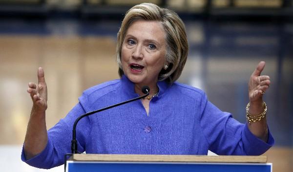 <em>La aspirante demócrataa la Presidencia de EEUU, Hillary Clinton.</em>