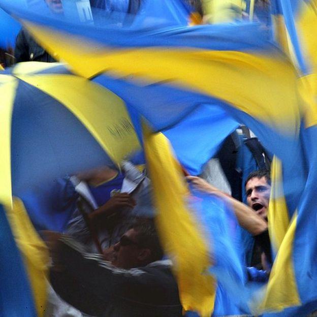 Los colores de Boca Juniors son reconocidos en todos los rincones futboleros del mundo. GETTY IMAGES