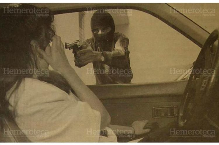 Ilustración de un secuestro, los responsables  serán castigados con la pena de muerte 27/04/1994. (Foto: Hemeroteca PL)