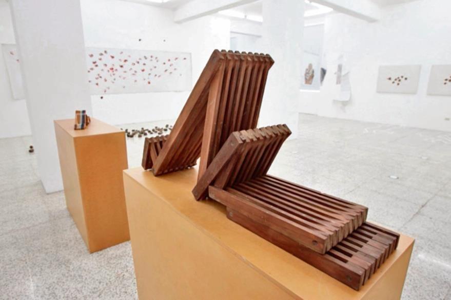 La Escultura  de la obra Gucumatz es una de las más representativas del trabajo de  Luis Díaz