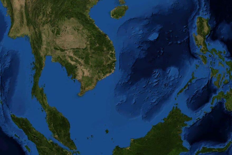 Vista aérea del Mar de China (Foto PL: upload.wikimedia.org)