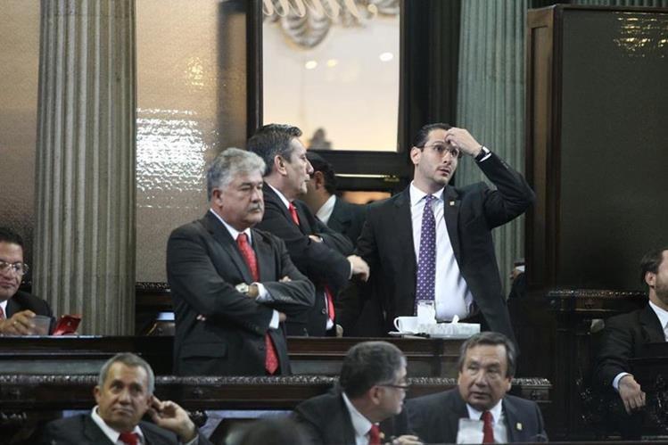Diputados del partido Líder decidieron no conocer las reformas a la Ley del MP. (Foto Prensa Libre: Esbin García)