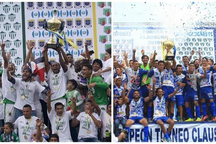 Antigua GFC y Suchitepéquez representarán a Guatemala en la Liga de Campeones de la Concacaf. (Foto Prensa Libre: Hemeroteca PL).