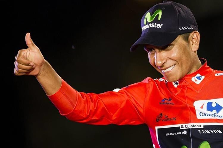 Nairo Quintana brilló en la Vuelta a España. (Foto Prensa Libre: AP)