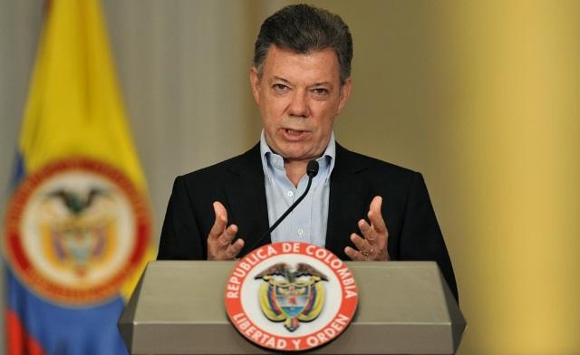Presidente de Colombia, Juan Manuel Santos, premio Nobel de la Paz 2016. (Foto Prensa Libre: EFE)