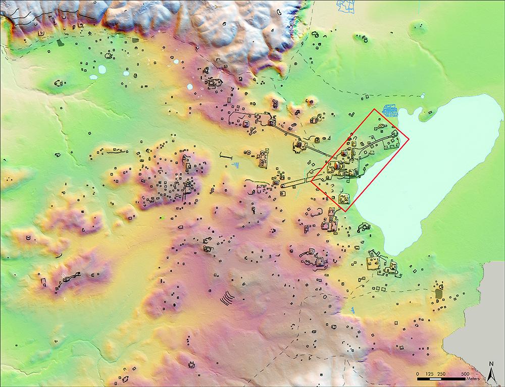 El centro urbano de la ciudad preclásica de El Palmar es 40 veces más grande de lo que se estimaba, según datos obtenidos con la tecnología  LiDAR (Foto Prensa Libre: Pacunam / Garrison).
