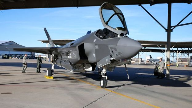 Lockheed Martin es la compañía líder en la venta de armamento y sistemas de defensa. Este es uno de los modelos del F-35. GETTY IMAGES