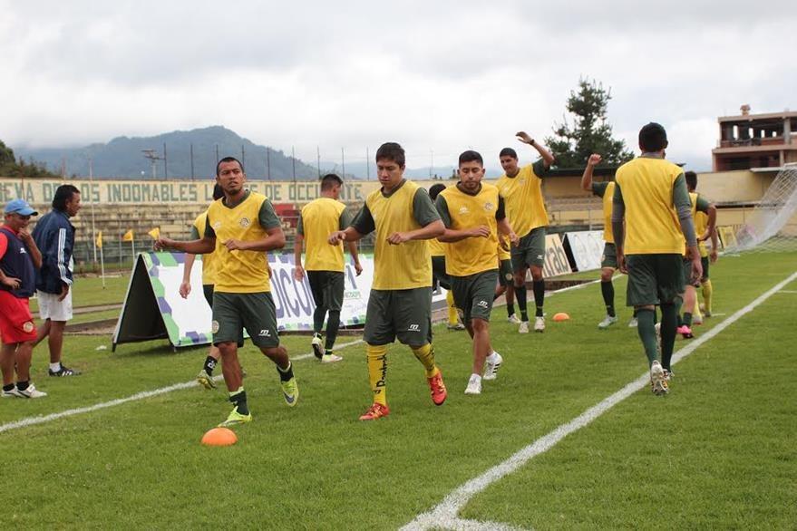 Marquense ha sufrido la partida de jugadores claves como Frank de León y Mynor de León. (Foto Prensa Libre: Aroldo Marroquín).