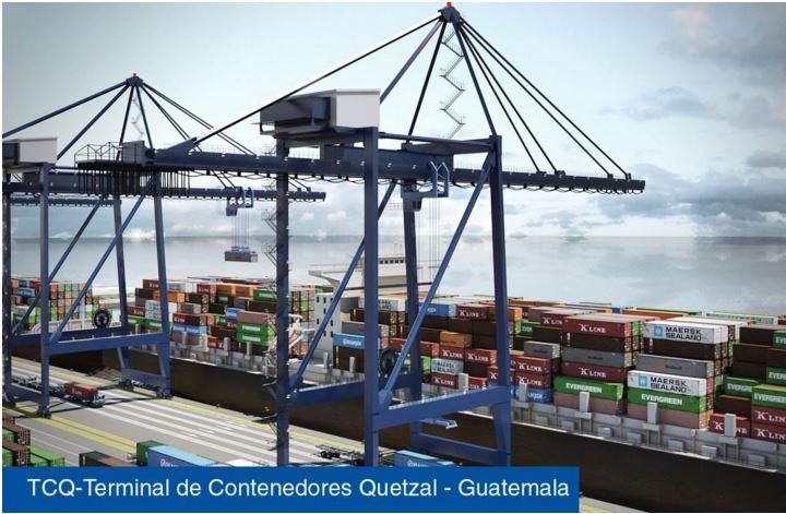 Panorámica de la Terminal de Contenedores Quetzal. (Foto Prensa Libre: Tomada de TCQ.com)