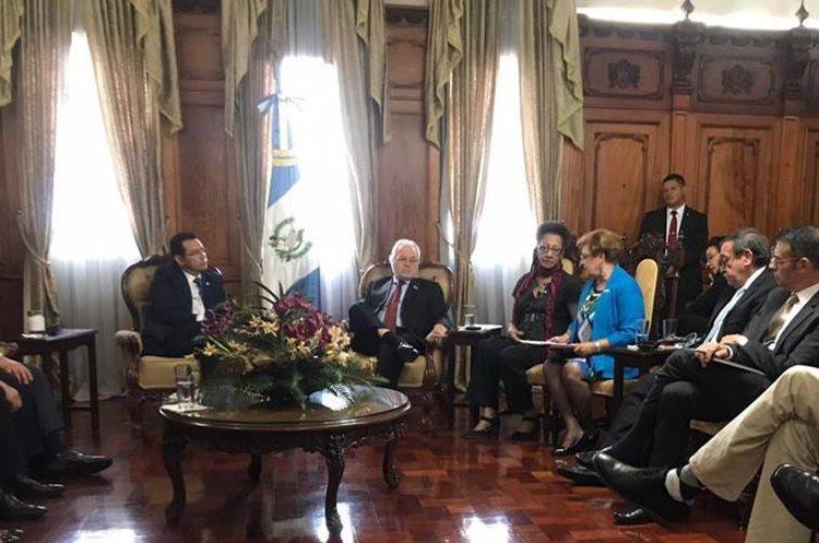 La CIDH cuestionó al presidente Morales sobre varios temas. (Foto Prensa Libre: Gobierno de Guatemala)