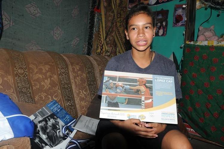 Évelyn ha competido a nivel nacional pero espera pronto salir de Guatemala. (Foto Prensa Libre: Jeniffer Gómez)