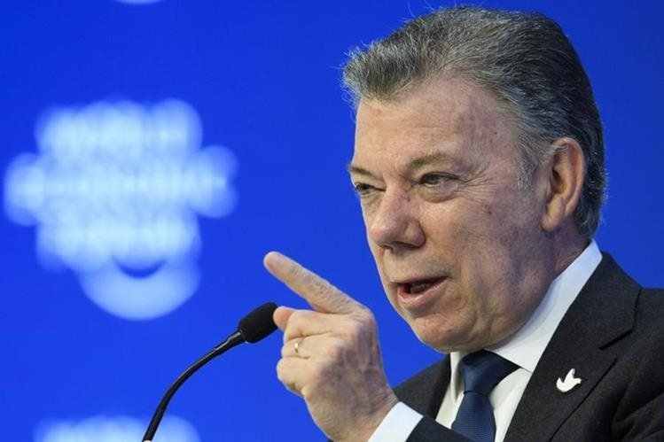 Juan Manuel Santos, presidente de Colombia. (Foto Prensa Libre: EFE).