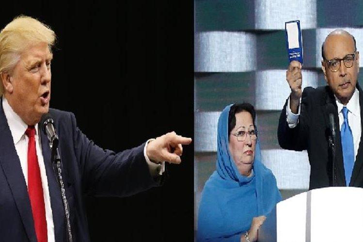Donald Trump lanza ataques contra padres de militar musulmán. (Foto Prensa Libre:AFP).