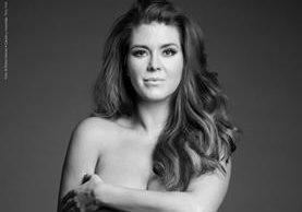 Alicia Machado posa desnuda en una campaña contra el uso de animales en la industria de la moda. (Foto Prensa Libre: EFE)