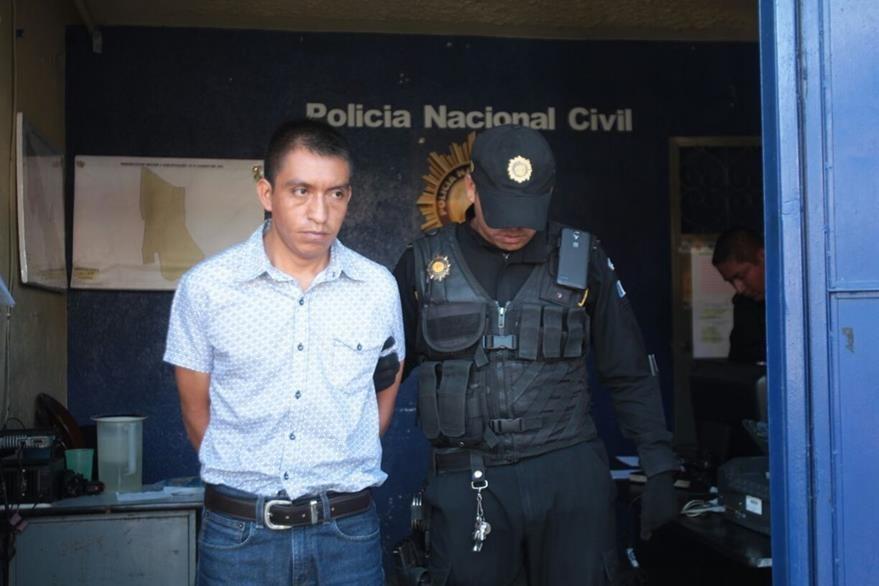 Misael Camel fue capturado por su presunta implicación en un hecho armado en Villa Nueva. (Foto Prensa Libre: Erick Avila)