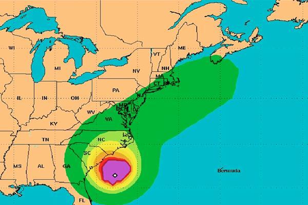 Ubicación de la tormenta ANA, en el Atlántico. (Foto Prensa Libre:CNH)