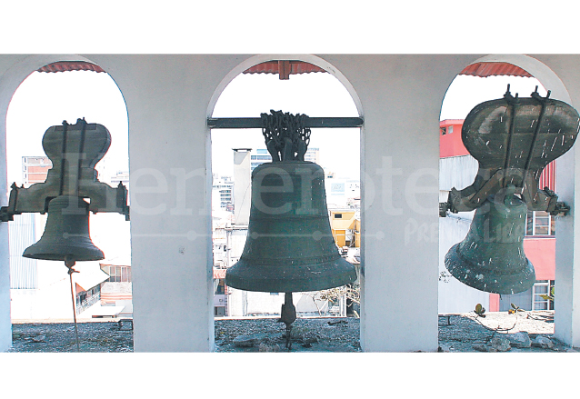 Campanas del Templo de San Francisco ubicado en la zona 1 de la capital. (Foto: Hemeroteca PL)