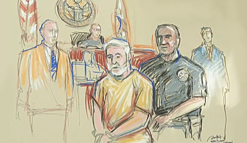 Fotoarte muestra a Ricardo Martinelli en la Corte de Miami, Estados Unidos.