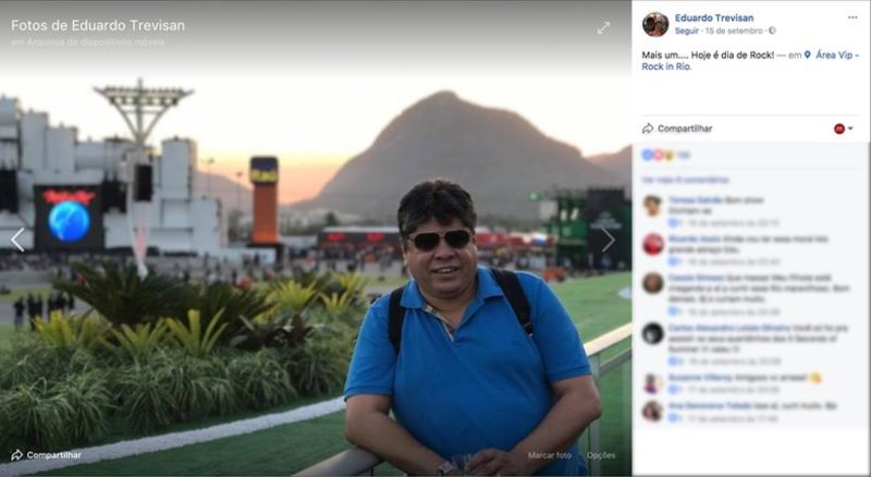 Eduardo Trevisan es el propietario de la empresa Facemedia, que opera en Río de Janeiro. (Imagen: Facebook/reproducción)
