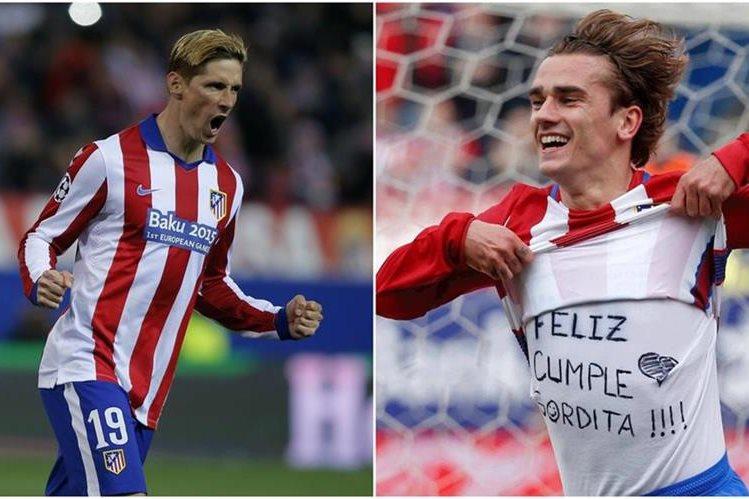 Torres y Griezmann esperan guiar al Atlético de Madrid a otra victoria. (Foto Prensa Libre: Hemeroteca PL)