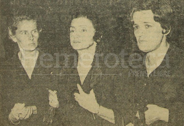 Al centro la condesa Helene Sabine viuda de von Spreti acompañada de las señoras Gertrude de Mikesch y Shirley de Fuentes Mohr, recibiendo las condolencias por la muerte de su esposo. (Foto: Hemeroteca PL)