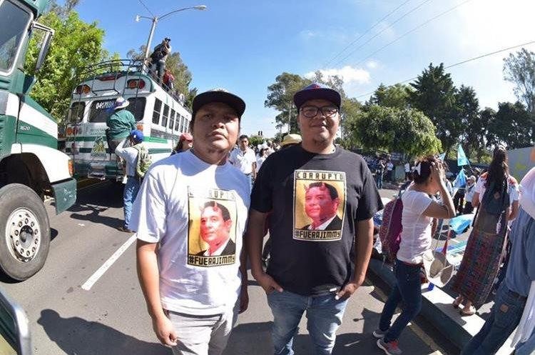 El rostro que más se utiliza es el del presidente Jimmy Morales a quien se le dedican varios mensajes.