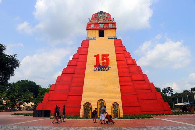 La administración del parque temático Xetulul estima la visita de 15 mil personas diarias en aniversario. (Foto Prensa Libre: Rolando Miranda)