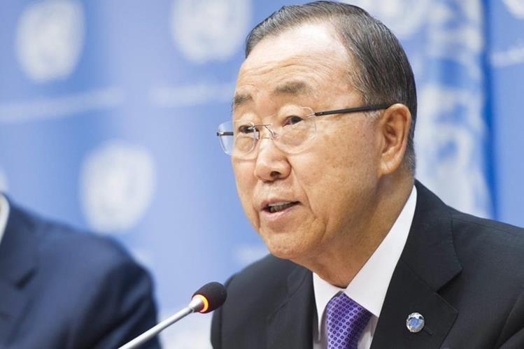<em>El secretario general de la ONU, Ban Ki-moon. (Foto Prensa Libre: EFE).</em>