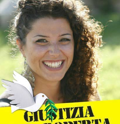"""Esta es la fotografía que Fabio di Lello colocó en su perfil de Facebook con la leyenda """"Justicias para Roberta""""."""