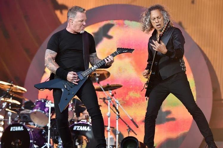 Metallica llegará al festival para presentar su nuevo álbum. (Foto Prensa Libre: AP)