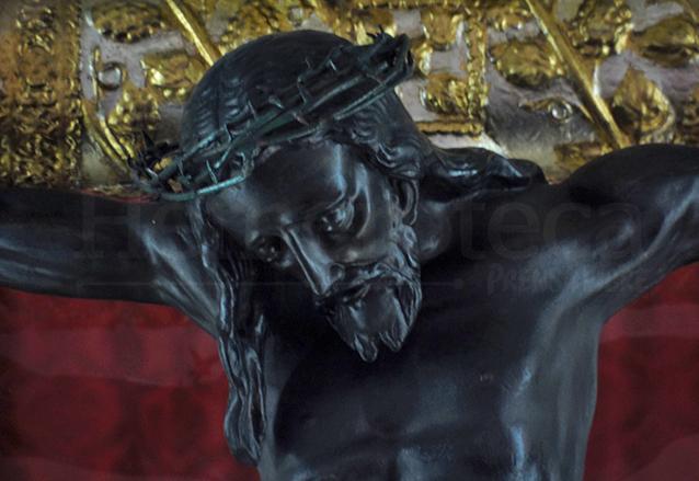 Detalle del Cristo de Esquipulas de la Catedral, elaborado en bronce. (Foto: Néstor Galicia).